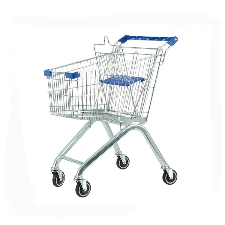 EU style 60L supermarket shopping cart