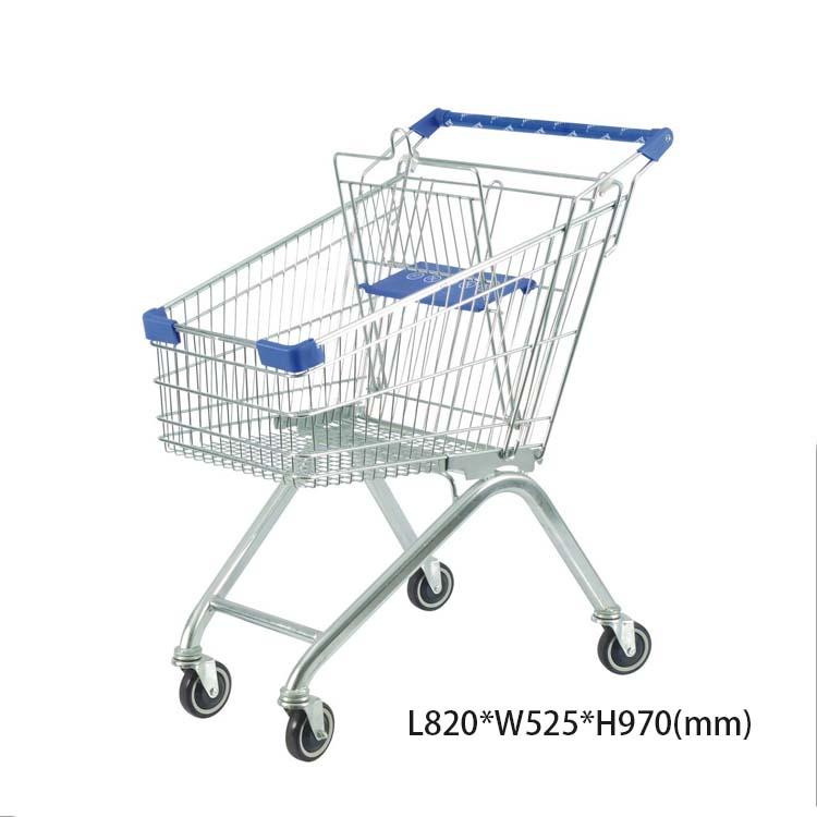 European style 80L supermarket cart