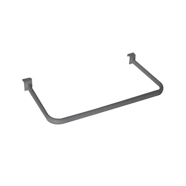 U shaped metal towel hanging display beam