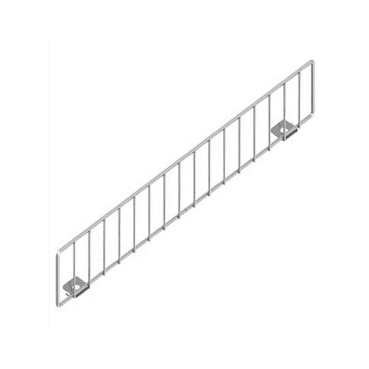 Supermarket shelf wire front fence