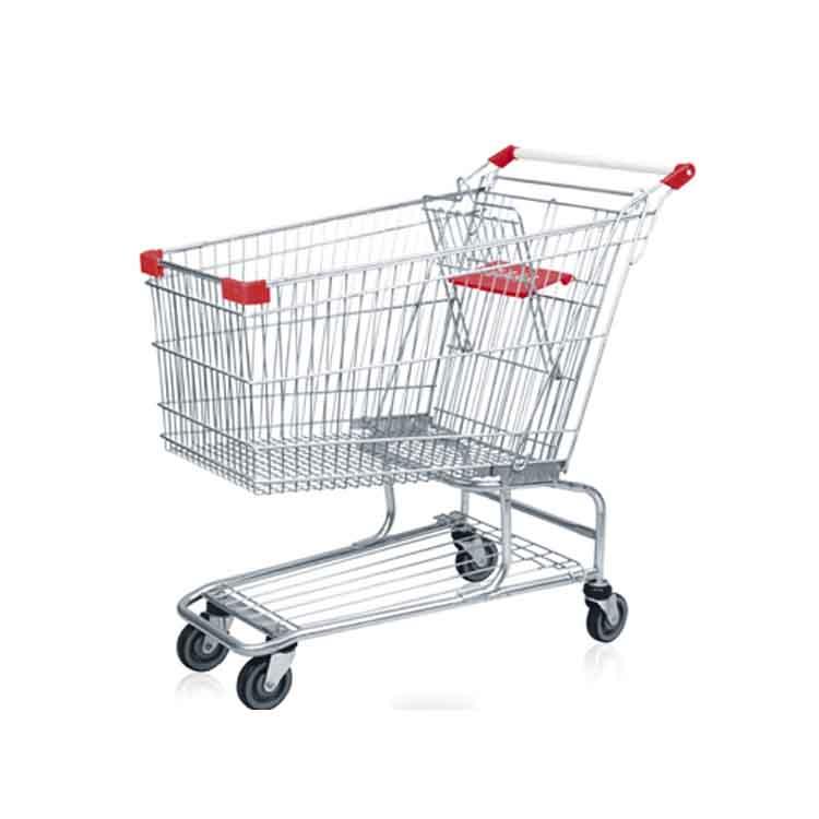Stainless steel hand push shopping cart