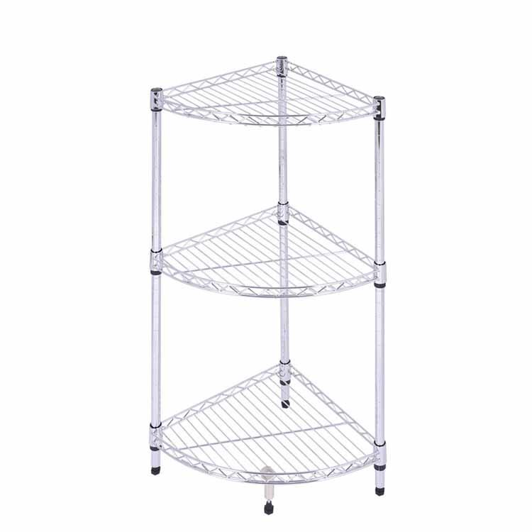 Chrome plated triangle wire shelf