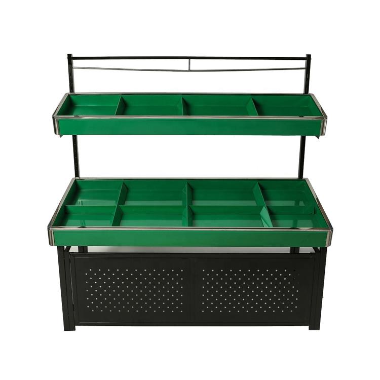 Adjustable metal vegetable produce rack