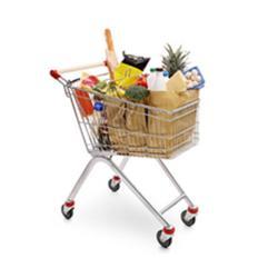 European style kids shopping trolley